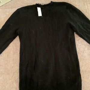 IRO Jeans black sweater with tattered detail
